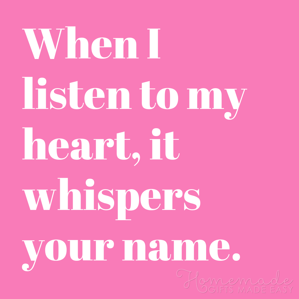 cute boyfriend quotes my heart whispers your name