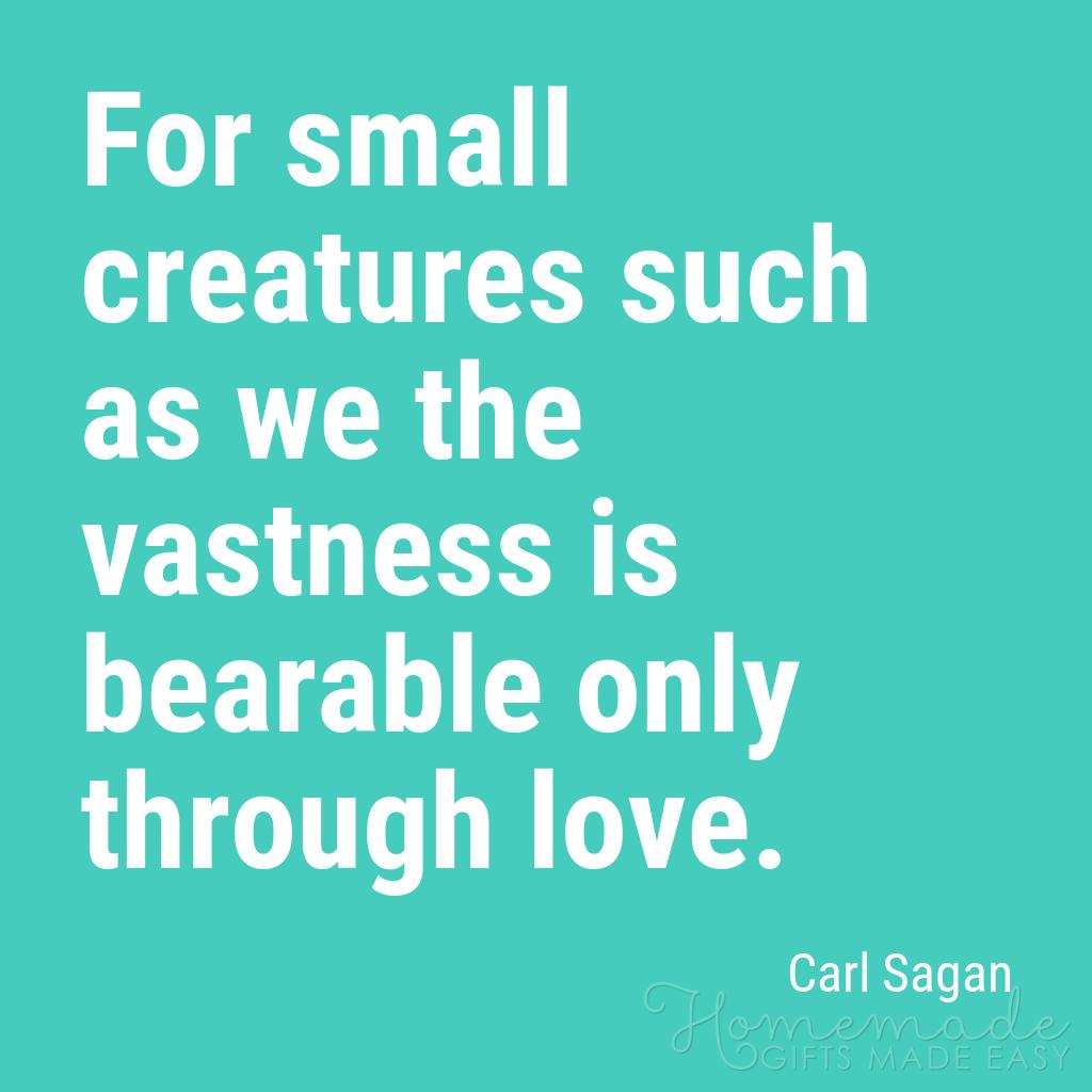 cute boyfriend quotes only through love carl sagan