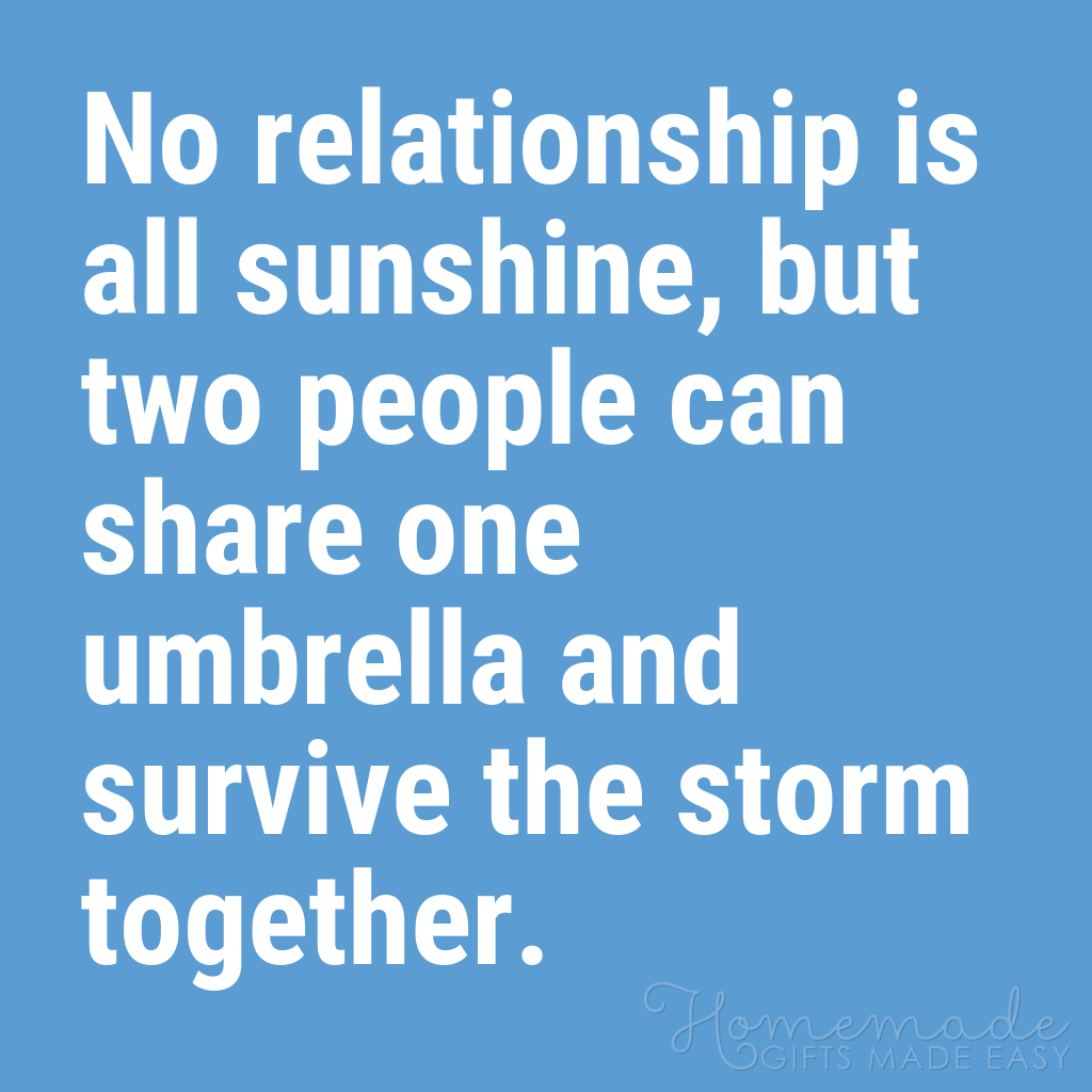 cute boyfriend quotes share umbrella survive storm