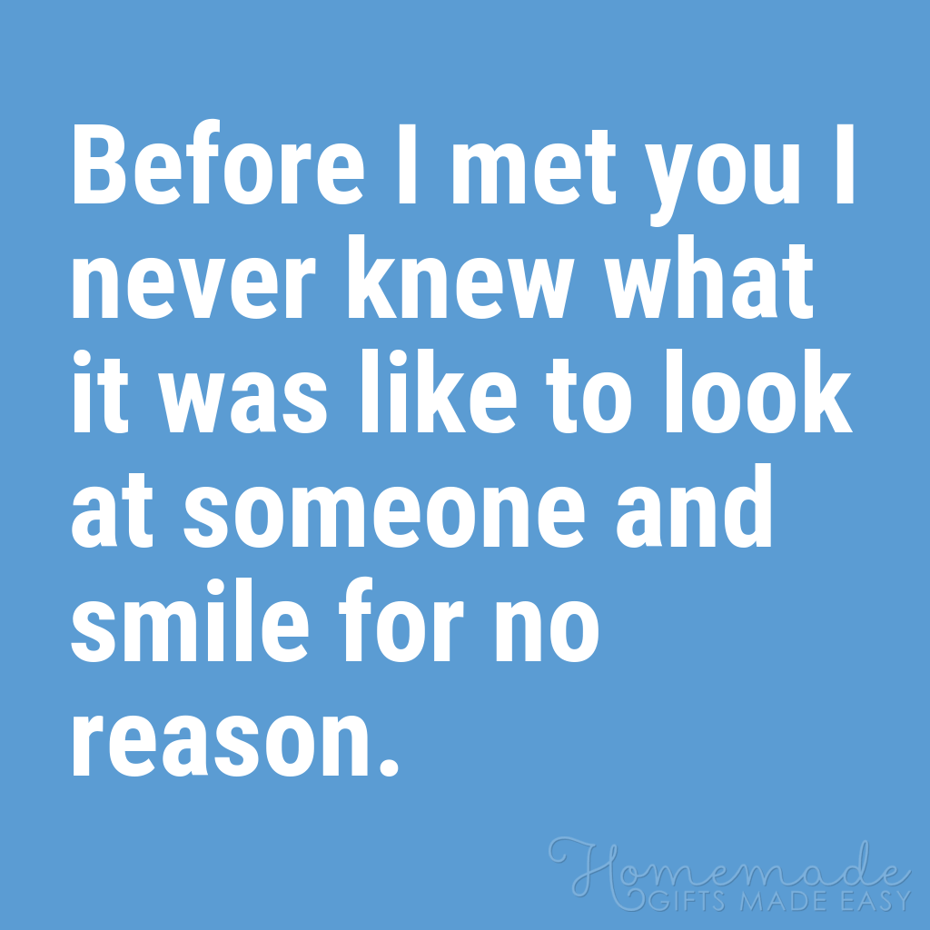cute boyfriend quotes smile for no reason