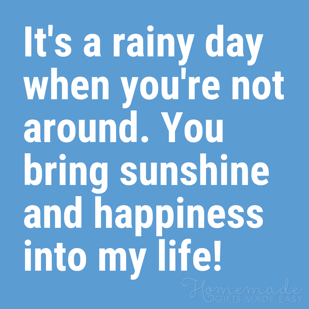 cute boyfriend quotes sunshine and happiness