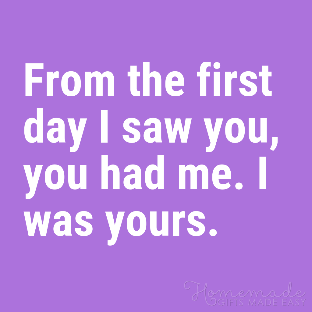 cute boyfriend quotes you had me the first day