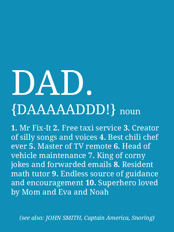 personalized dad definition poster preview