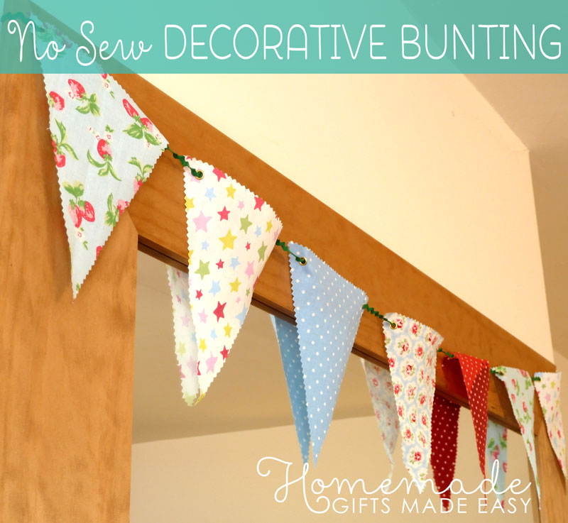 Decorative Bunting - Easy No Sew Fabric Banner Bunting