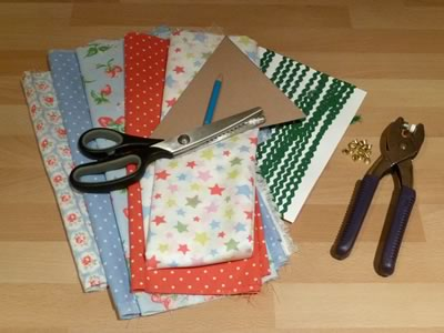 no sew fabric banner bunting - materials to make
