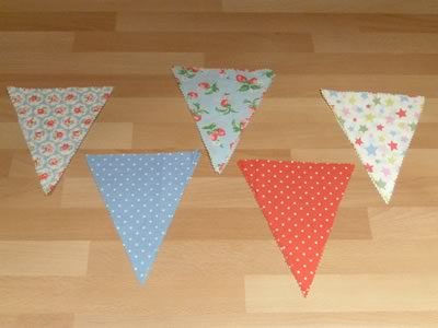 how to make decorative bunting step 1