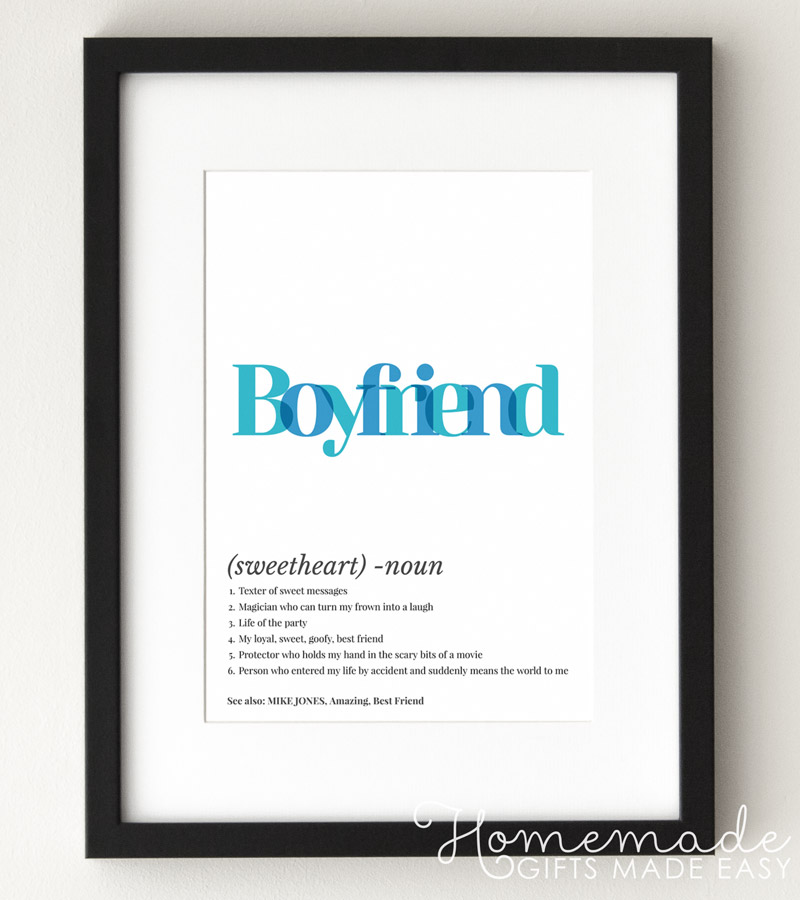 definition personalized poster