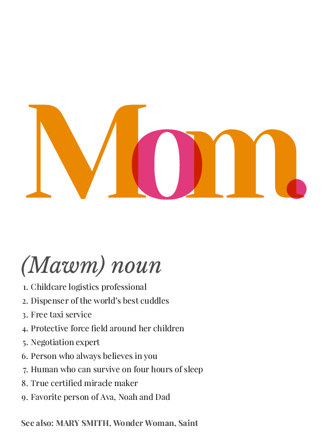 mom definition poster preview