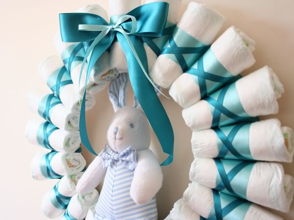 diaper wreath baby shower gift instructions