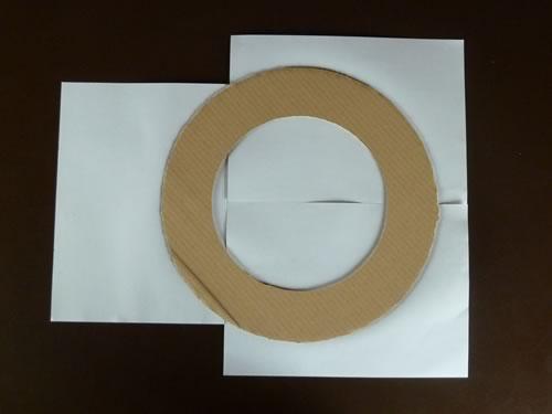 rolled diaper wreath step 1b