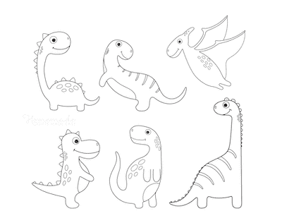 Dinosaur Coloring Pages 6 Cute Dinos for Preschoolers 4