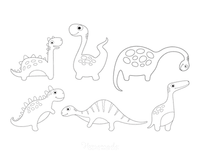 Dinosaur Coloring Pages 6 Cute Dinos for Preschoolers 5