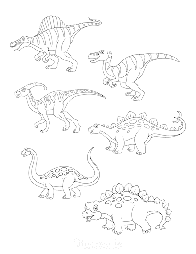 Dinosaur Coloring Pages 6 Dinosaurs to Color