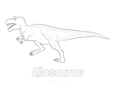 Dinosaur Coloring Pages Allosaurus