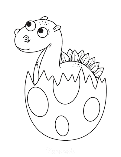 Dinosaur Coloring Pages Baby Dinosaur Hatching From Egg