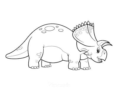 Dinosaur Coloring Pages Cartoon Arrhinoceratops