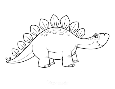 Dinosaur Coloring Pages Cartoon Stegosaurus