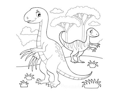 Dinosaur Coloring Pages Cartoon Therizinosaur