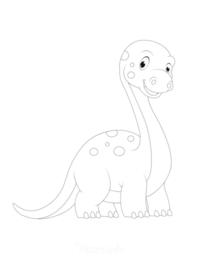 Dinosaur Coloring Pages Cute Dinosaur for Preschoolers