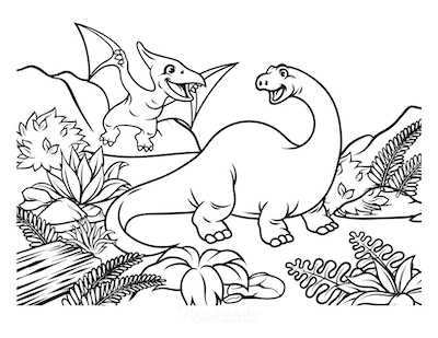 128 Best Dinosaur Coloring Pages | Free Printables for Kids