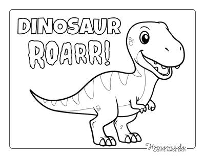 Dinosaur Coloring Pages Cute T Rex