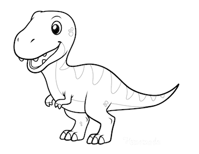 Dinosaur Coloring Pages Cute T Rex