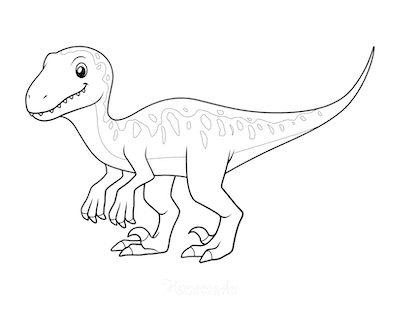 Dinosaur Coloring Pages Cute Theropod