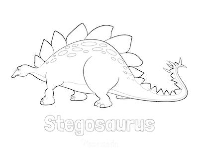Dinosaur Coloring Pages Easy Stegosaurus