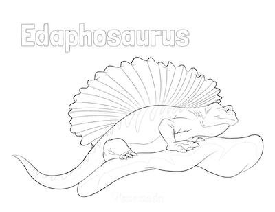 Dinosaur Coloring Pages Edaphosaurus