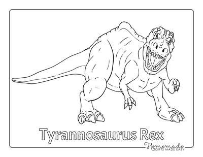 Dinosaur Coloring Pages Fierce Dinosaur Attack