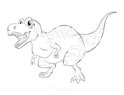 Dinosaur Coloring Pages Fierce Dinosaur Mouth Open