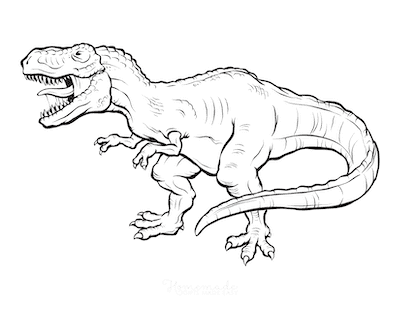 Dinosaur Coloring Pages Fierce Giganotosaurus