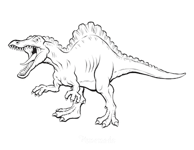 Dinosaur Coloring Pages Fierce Predator