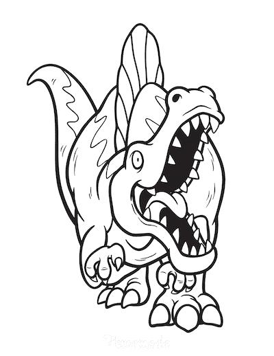 Dinosaur Coloring Pages Fierce Spinosaurus