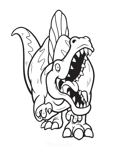 Dinosaur Coloring Pages Fierce Spinosaurus