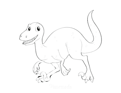 Dinosaur Coloring Pages Friendly Dinosaur