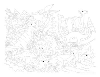 Dinosaur Coloring Pages Land of Dinosaurs