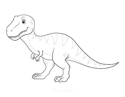 Dinosaur Coloring Pages Megalosaurus for Preschoolers