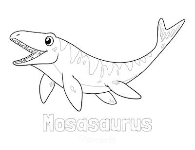 Dinosaur Coloring Pages Mosasaurus