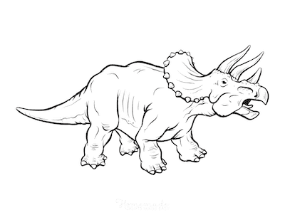 Dinosaur Coloring Pages Muscular Triceratops