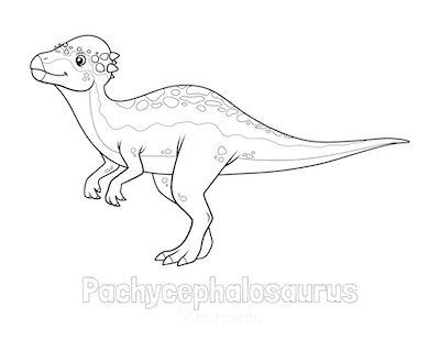Dinosaur Coloring Pages Pachycephalosaurus