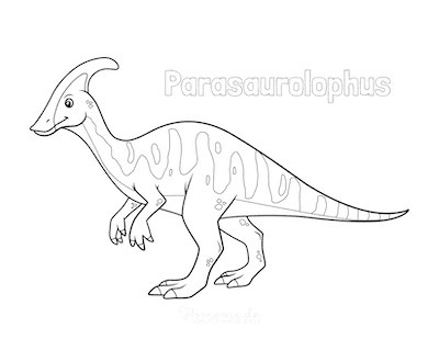 Dinosaur Coloring Pages Parasaurolophus