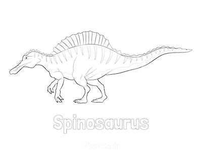Dinosaur Coloring Pages Spinosaurus 2