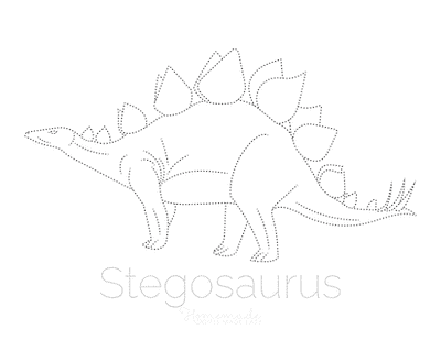 Dinosaur Coloring Pages Stegosaurus Tracing Picture