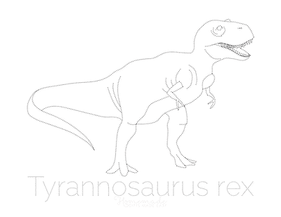 Dinosaur Coloring Pages Tyrannosaurus Rex Tracing Picture