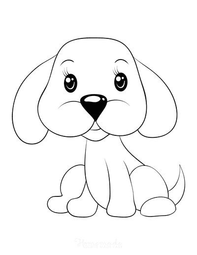 Dog Coloring Pages Cute Dog Preschoolers