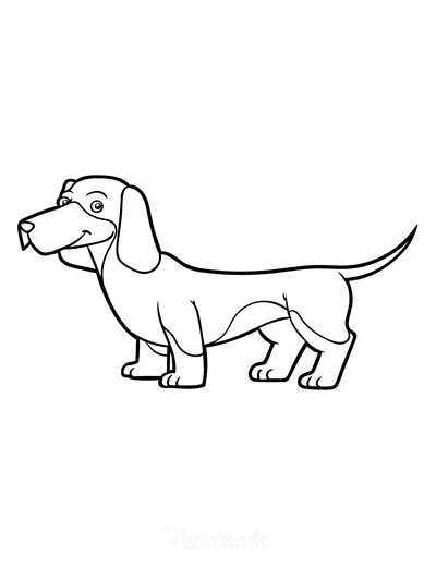 Dog Coloring Pages Dachshund Outline