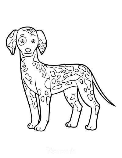 Dog Coloring Pages Dalmatian Outline