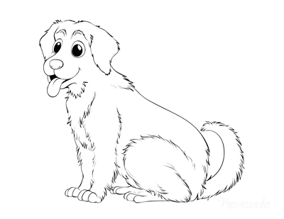 Dog Coloring Pages Golden Retriever Outline