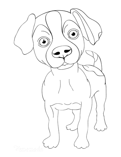 Dog Coloring Pages Jack Russell Terrier Outline